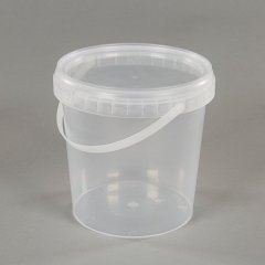 Clear plastic food bucket and pail mould